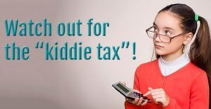 kiddie tax warning